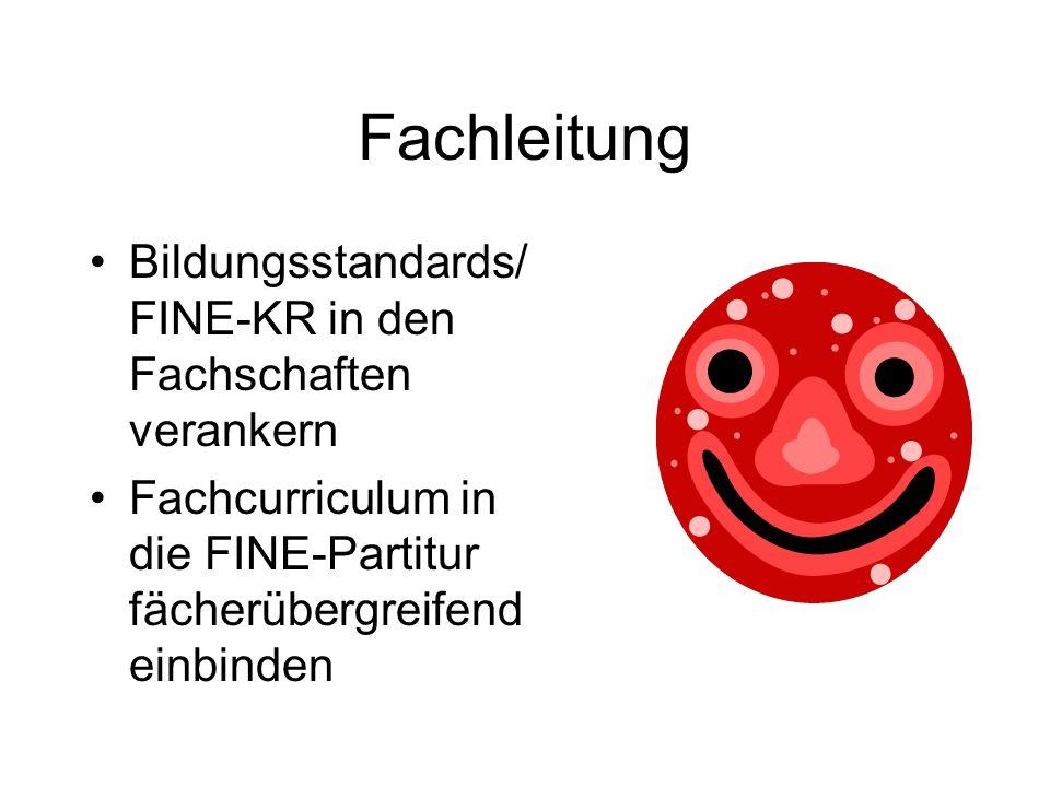 Fachleitung Bildungsstandards/ FINE-KR in den Fachschaften verankern