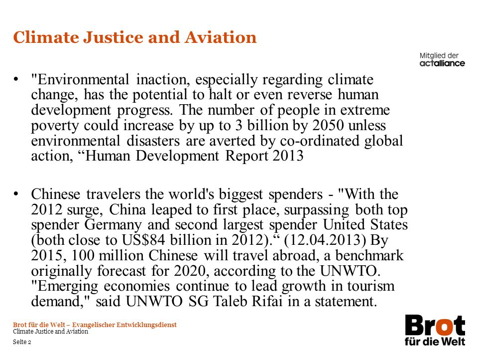 Climate Justice and Aviation