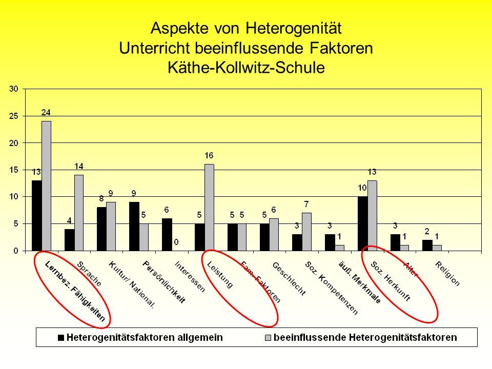 Aspekte von Heterogenität Unterricht beeinflussende Faktoren Käthe-Kollwitz-Schule