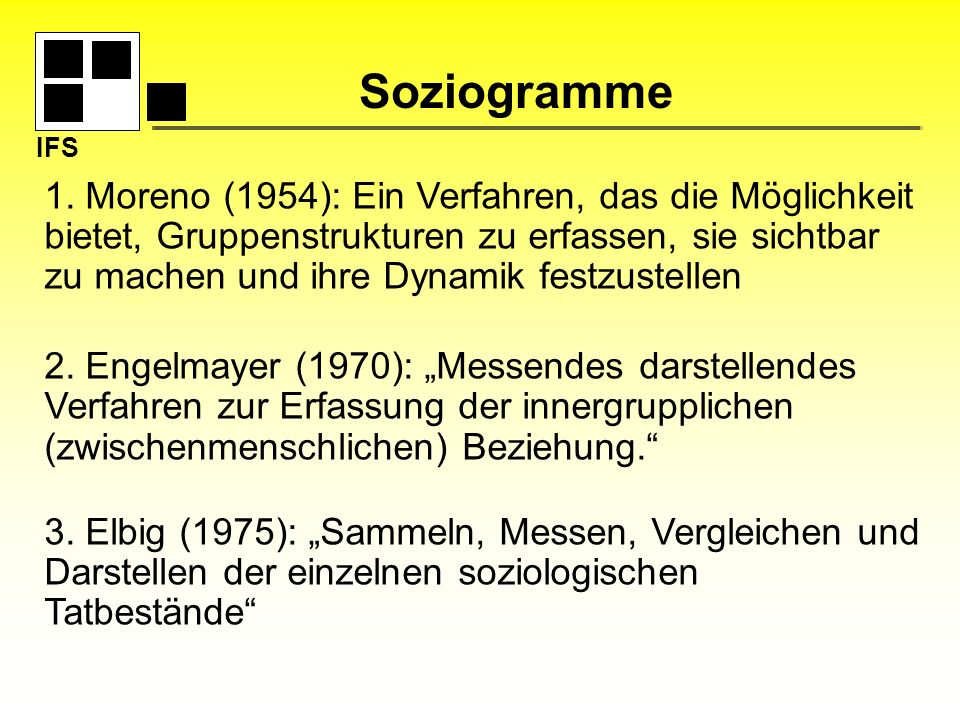 IFS Soziogramme.