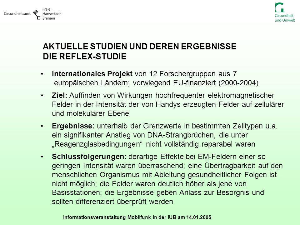 AKTUELLE STUDIEN UND DEREN ERGEBNISSE DIE REFLEX-STUDIE