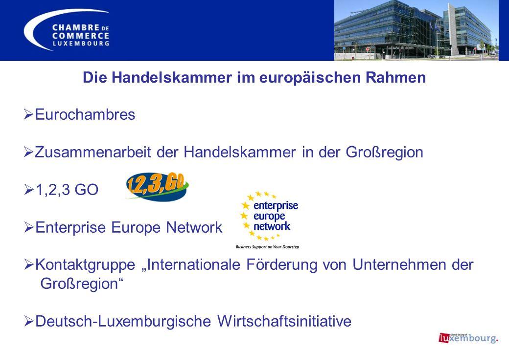 Die Handelskammer im europäischen Rahmen