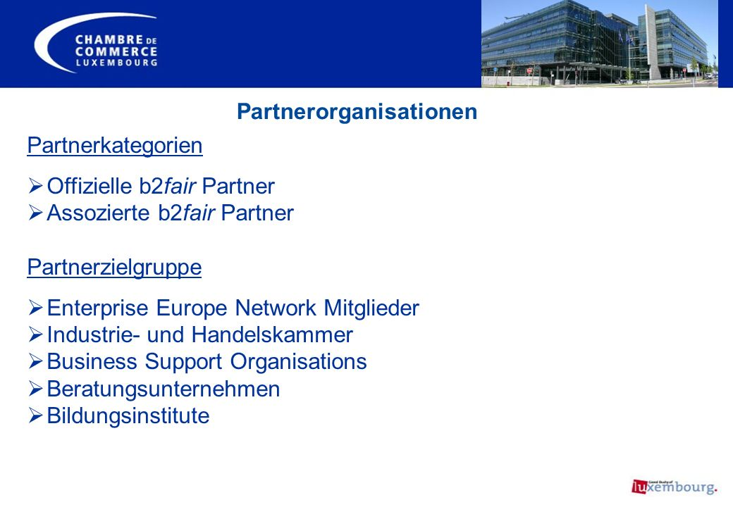 Partnerorganisationen