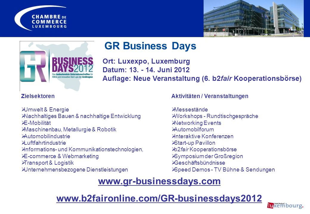 GR Business Days www.gr-businessdays.com
