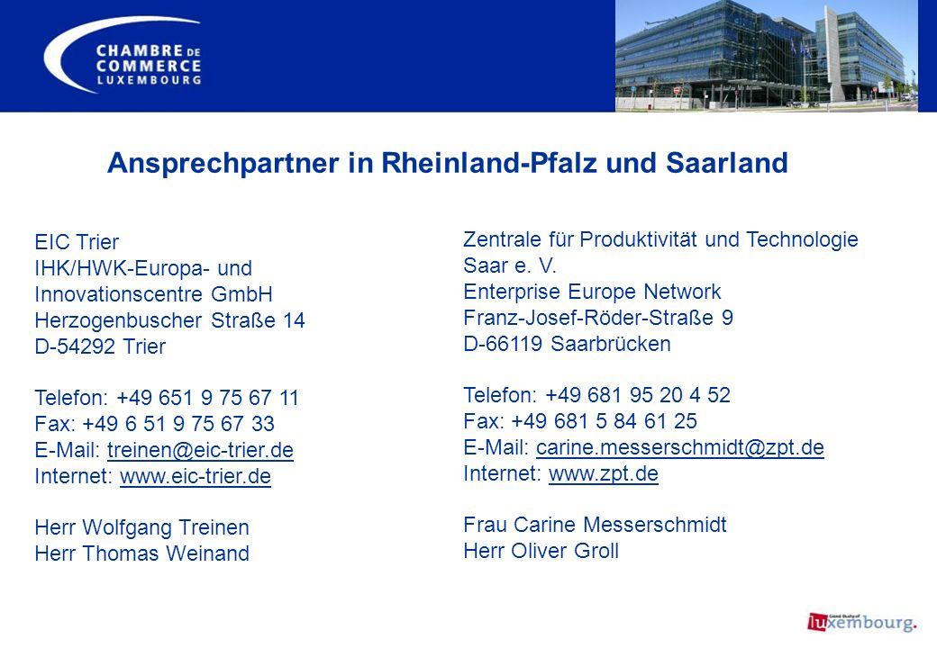 Ansprechpartner in Rheinland-Pfalz und Saarland