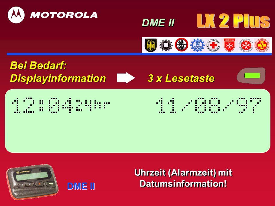 Uhrzeit (Alarmzeit) mit Datumsinformation!