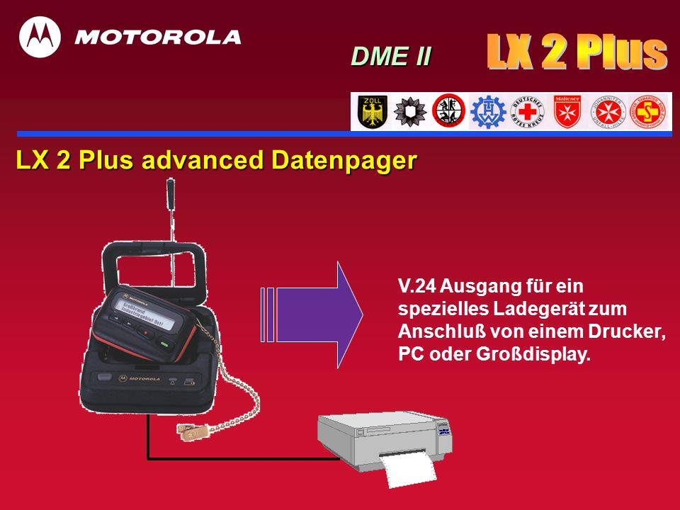 LX 2 Plus DME II LX 2 Plus advanced Datenpager