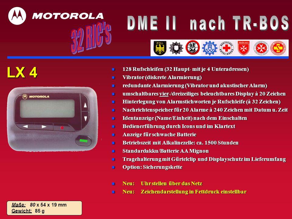 DME II nach TR-BOS 32 RIC s LX 4