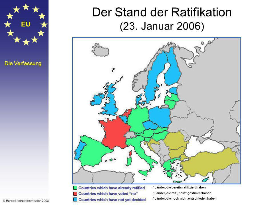 Der Stand der Ratifikation (23. Januar 2006)