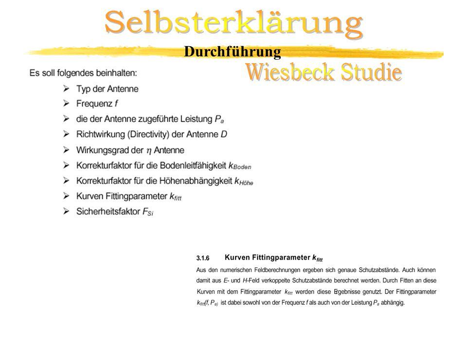 Selbsterklärung Durchführung Wiesbeck Studie