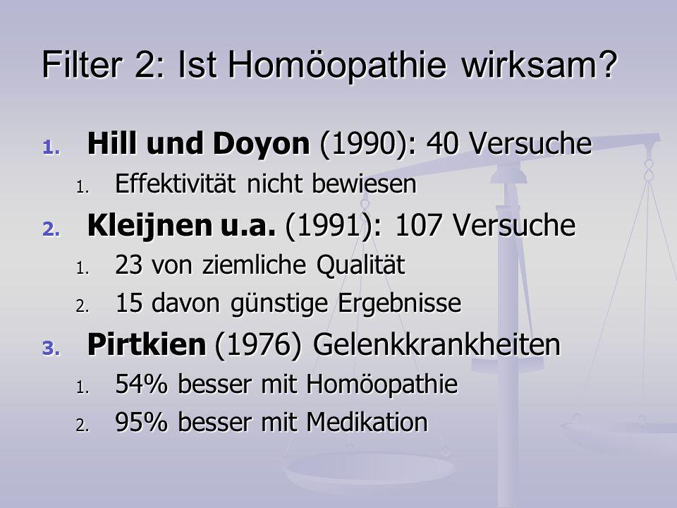 Filter 2: Ist Homöopathie wirksam