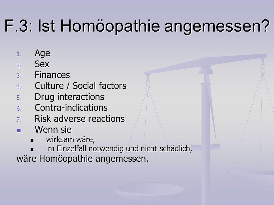 F.3: Ist Homöopathie angemessen