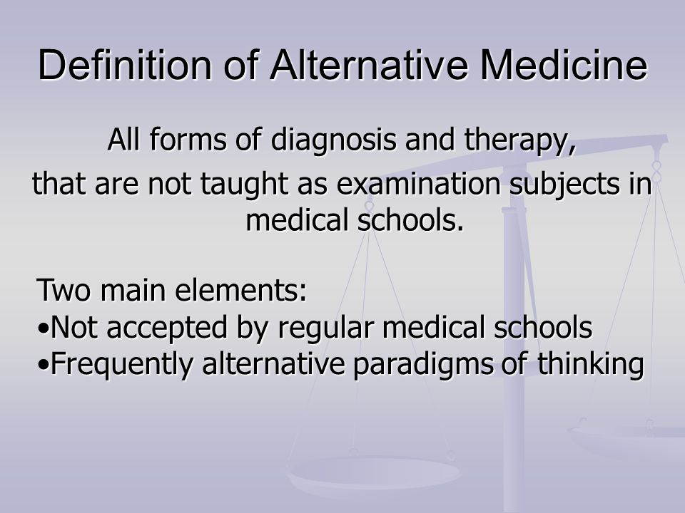 Definition of Alternative Medicine