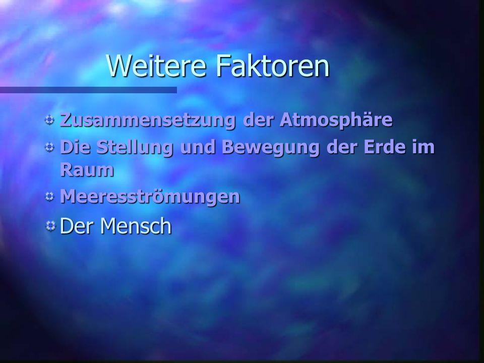 Weitere Faktoren Der Mensch Zusammensetzung der Atmosphäre