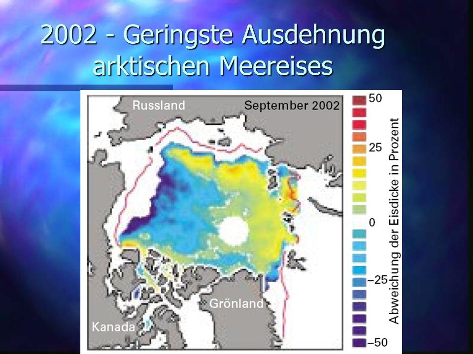 2002 - Geringste Ausdehnung arktischen Meereises