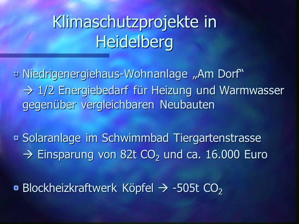Klimaschutzprojekte in Heidelberg
