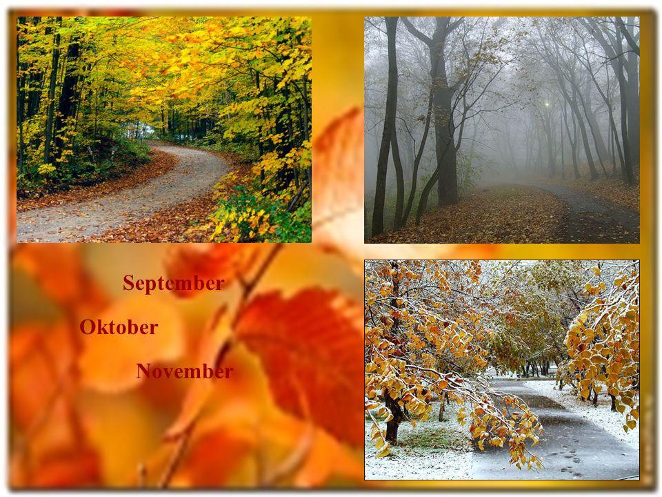 September Oktober November
