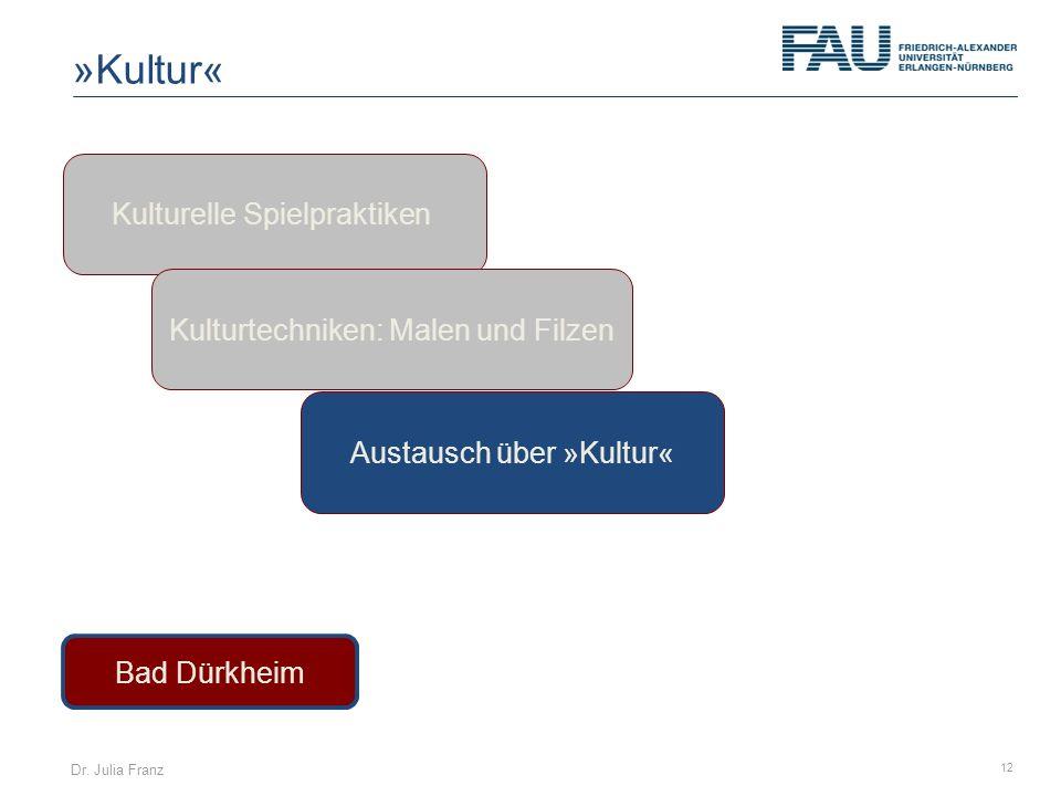 »Kultur« Kulturelle Spielpraktiken Kulturtechniken: Malen und Filzen