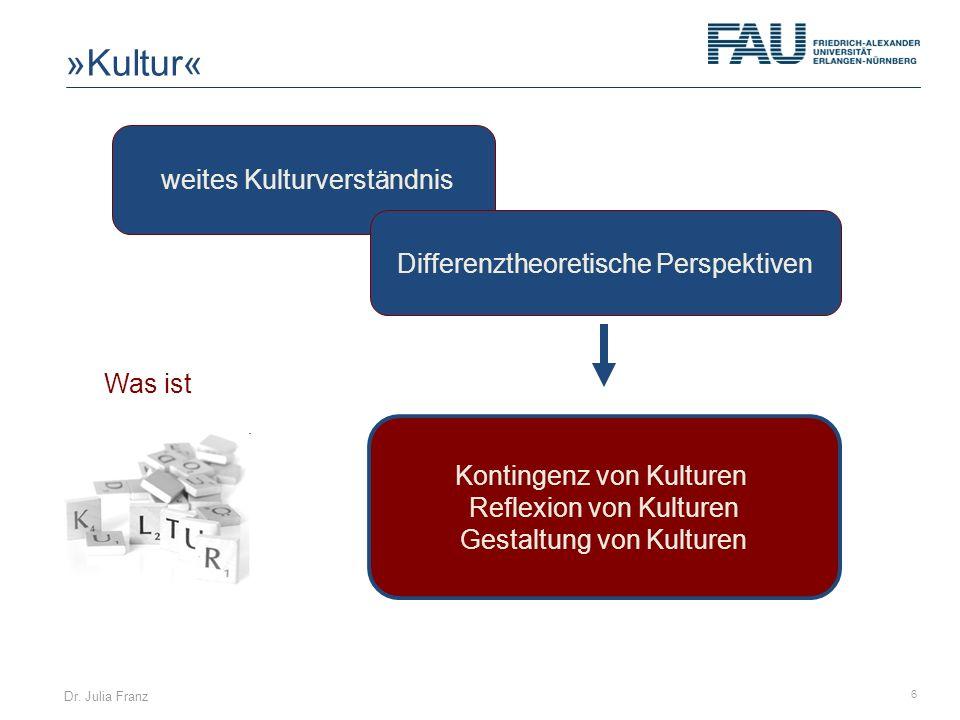 »Kultur« weites Kulturverständnis Differenztheoretische Perspektiven