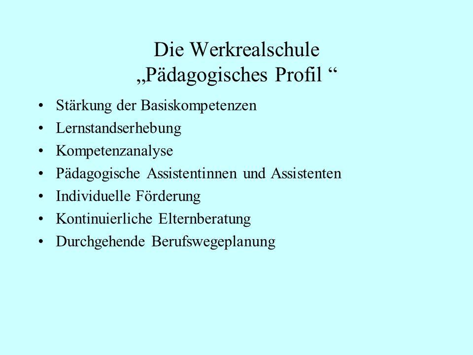 """Die Werkrealschule """"Pädagogisches Profil"""