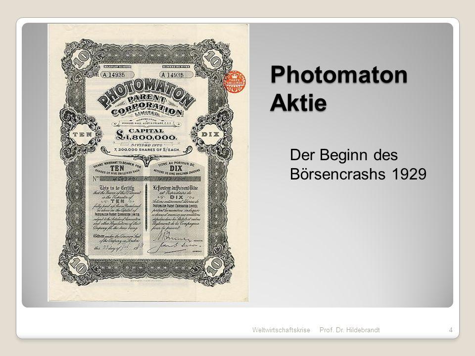 Photomaton Aktie Der Beginn des Börsencrashs 1929 Weltwirtschaftskrise