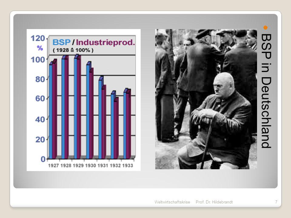 BSP in Deutschland Weltwirtschaftskrise Prof. Dr. Hildebrandt