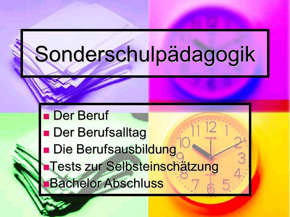 Sonderschulpädagogik