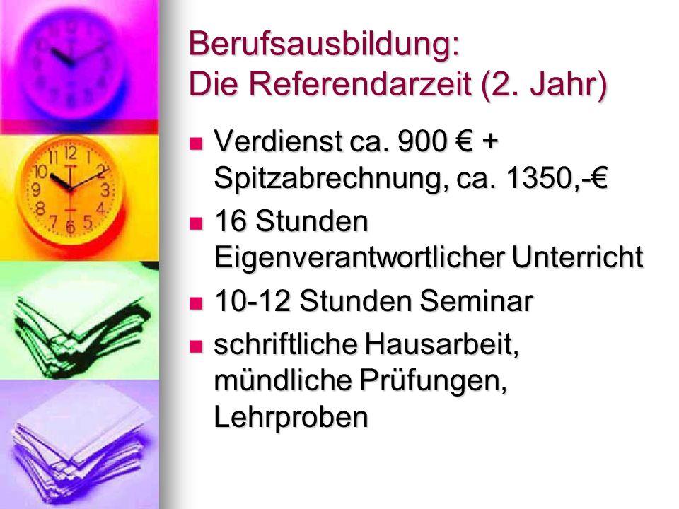 Berufsausbildung: Die Referendarzeit (2. Jahr)