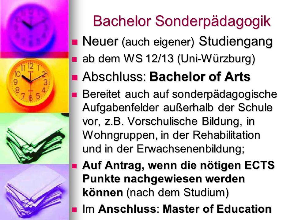 Bachelor Sonderpädagogik