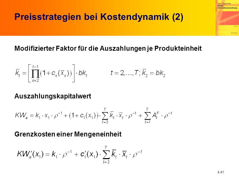 Preisstrategien bei Kostendynamik (2)