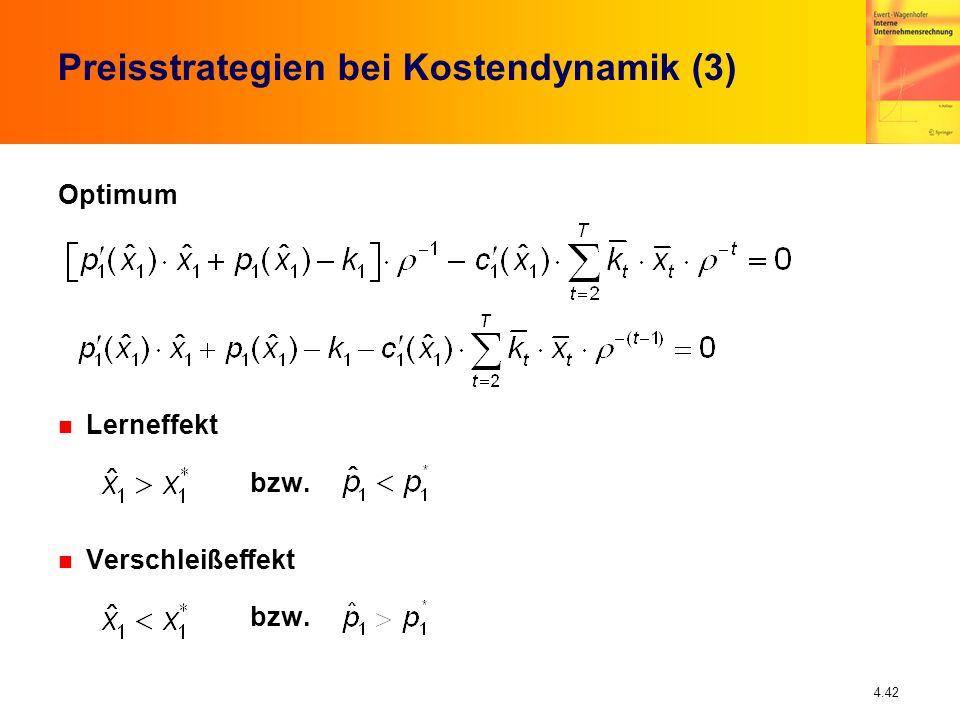 Preisstrategien bei Kostendynamik (3)