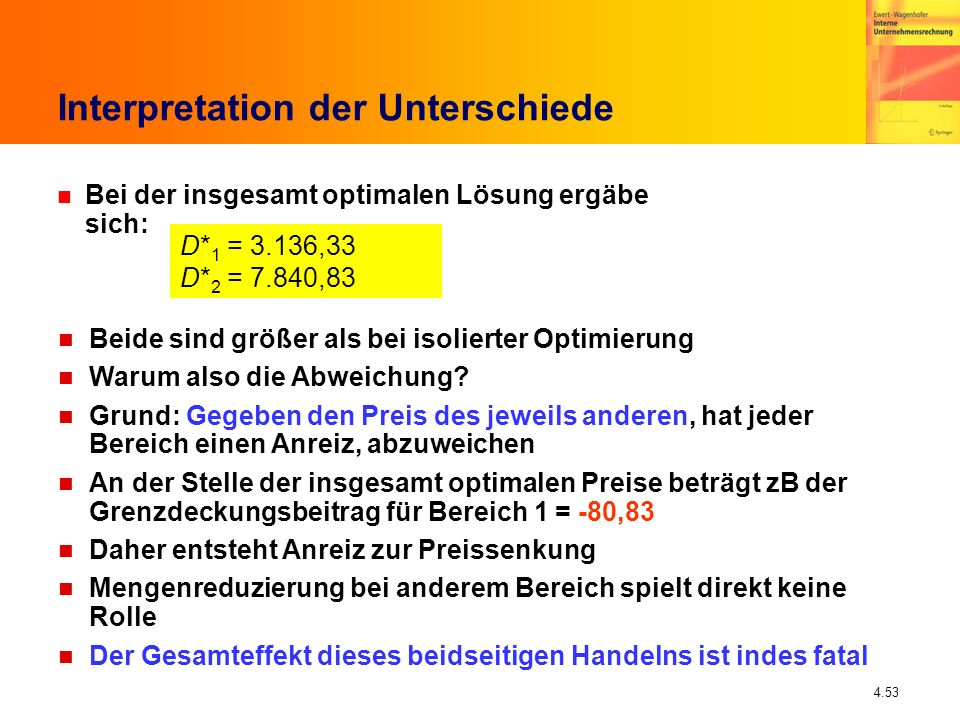 Interpretation der Unterschiede