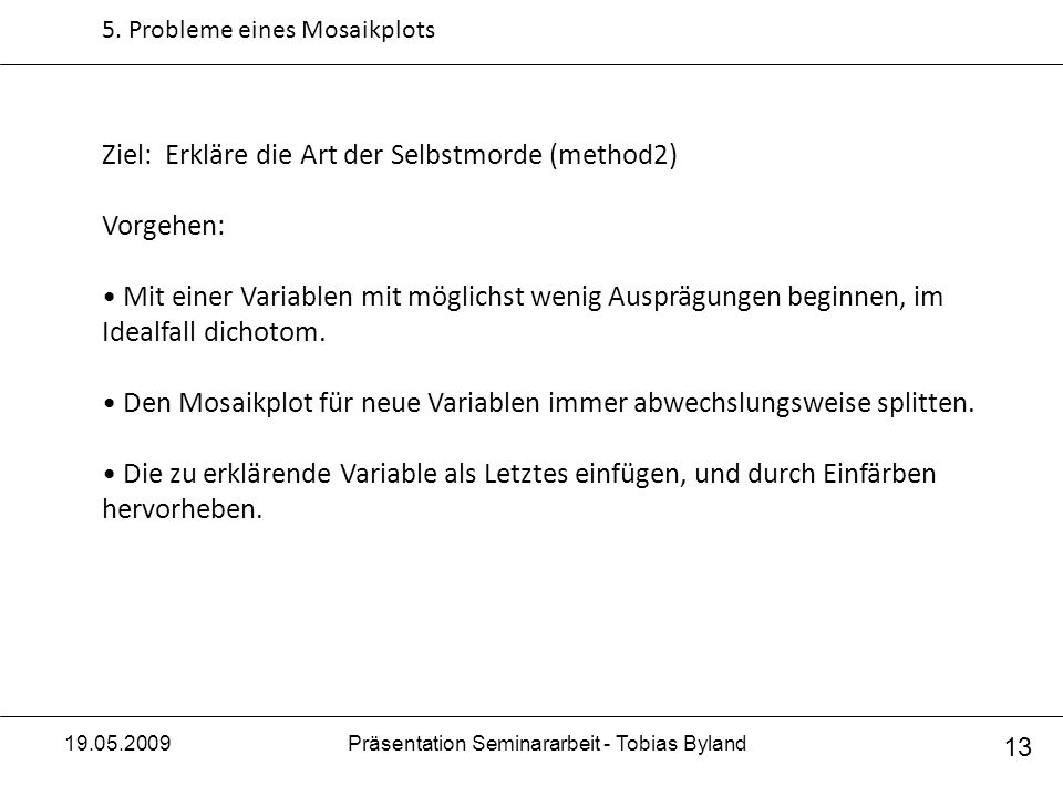 Präsentation Seminararbeit - Tobias Byland
