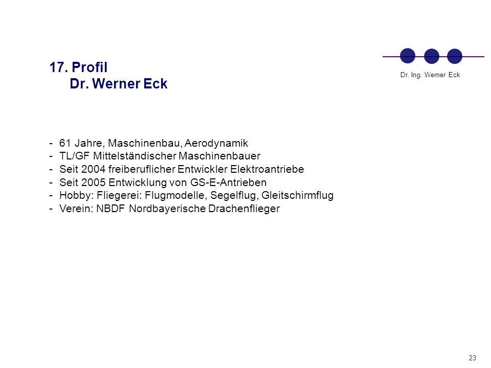 17. Profil Dr. Werner Eck 61 Jahre, Maschinenbau, Aerodynamik