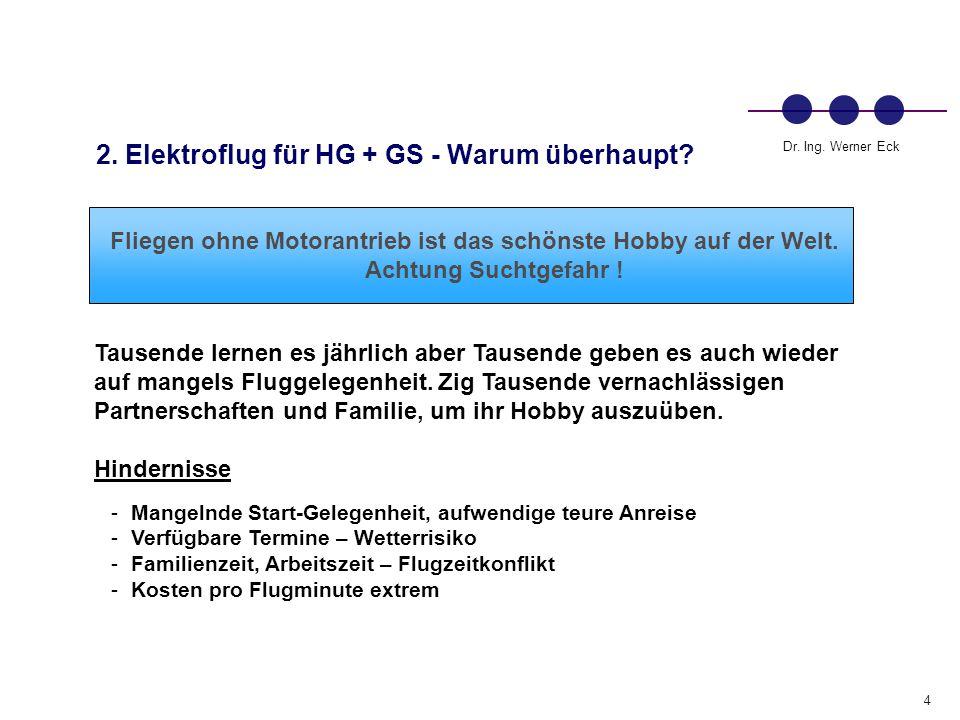 2. Elektroflug für HG + GS - Warum überhaupt