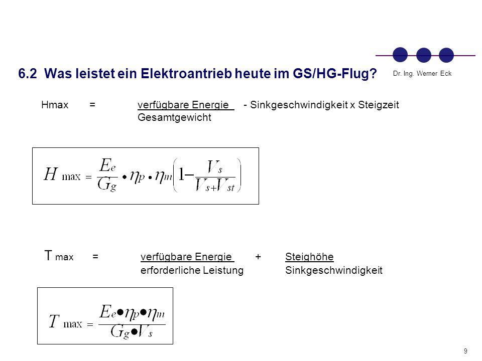 6.2 Was leistet ein Elektroantrieb heute im GS/HG-Flug