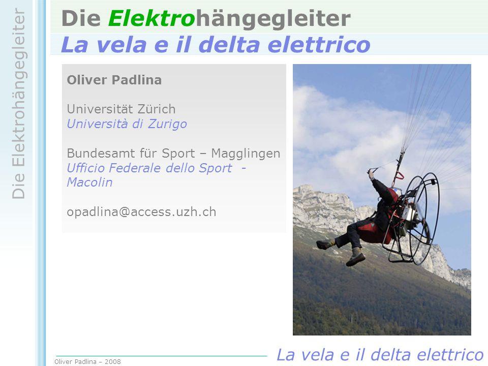 Die Elektrohängegleiter La vela e il delta elettrico