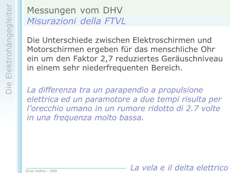 Messungen vom DHV Misurazioni della FTVL