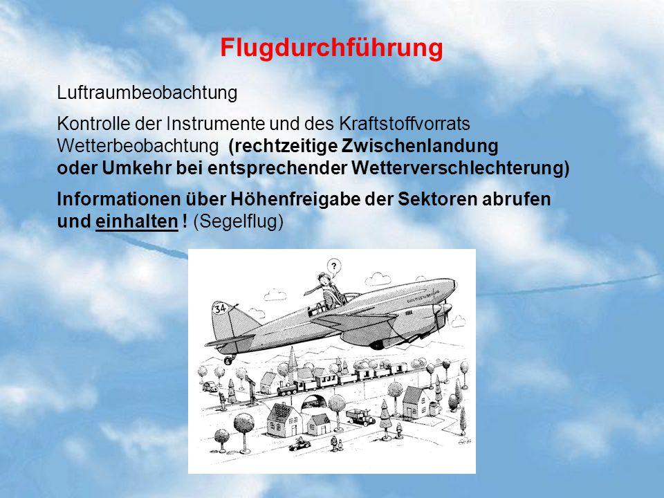 Flugdurchführung Luftraumbeobachtung