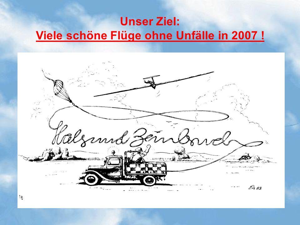 Viele schöne Flüge ohne Unfälle in 2007 !