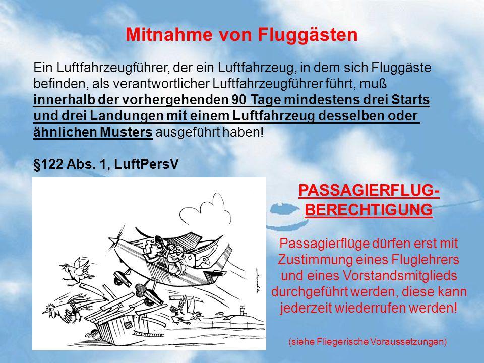 Mitnahme von Fluggästen