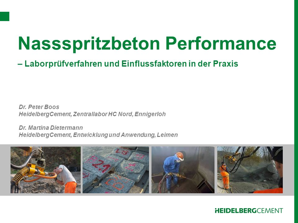 Nassspritzbeton Performance