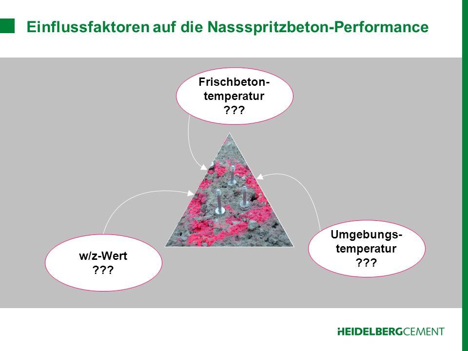 Einflussfaktoren auf die Nassspritzbeton-Performance