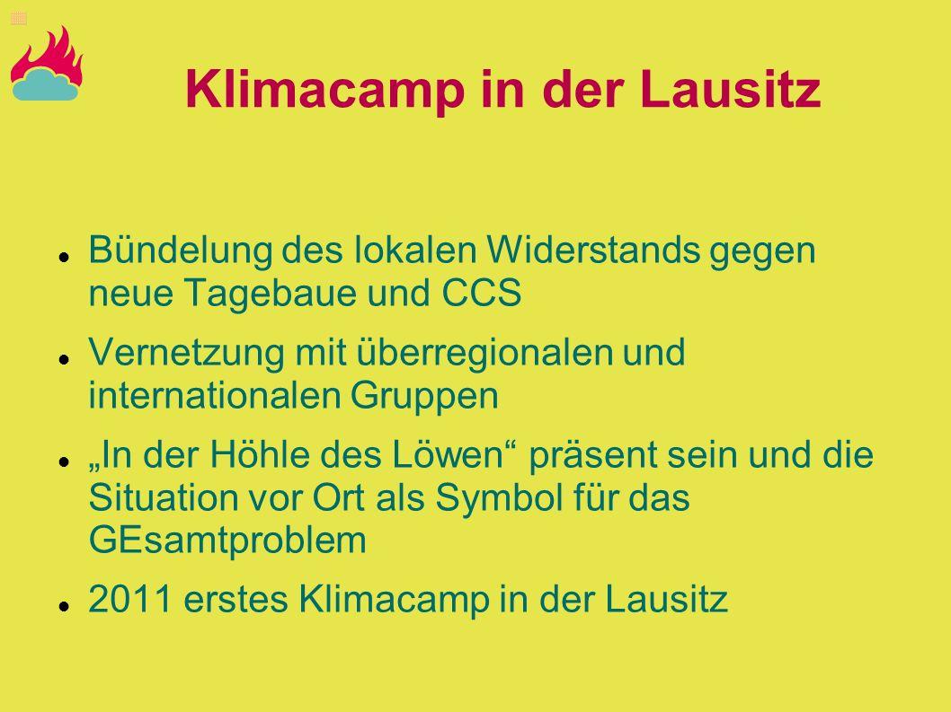 Klimacamp in der Lausitz