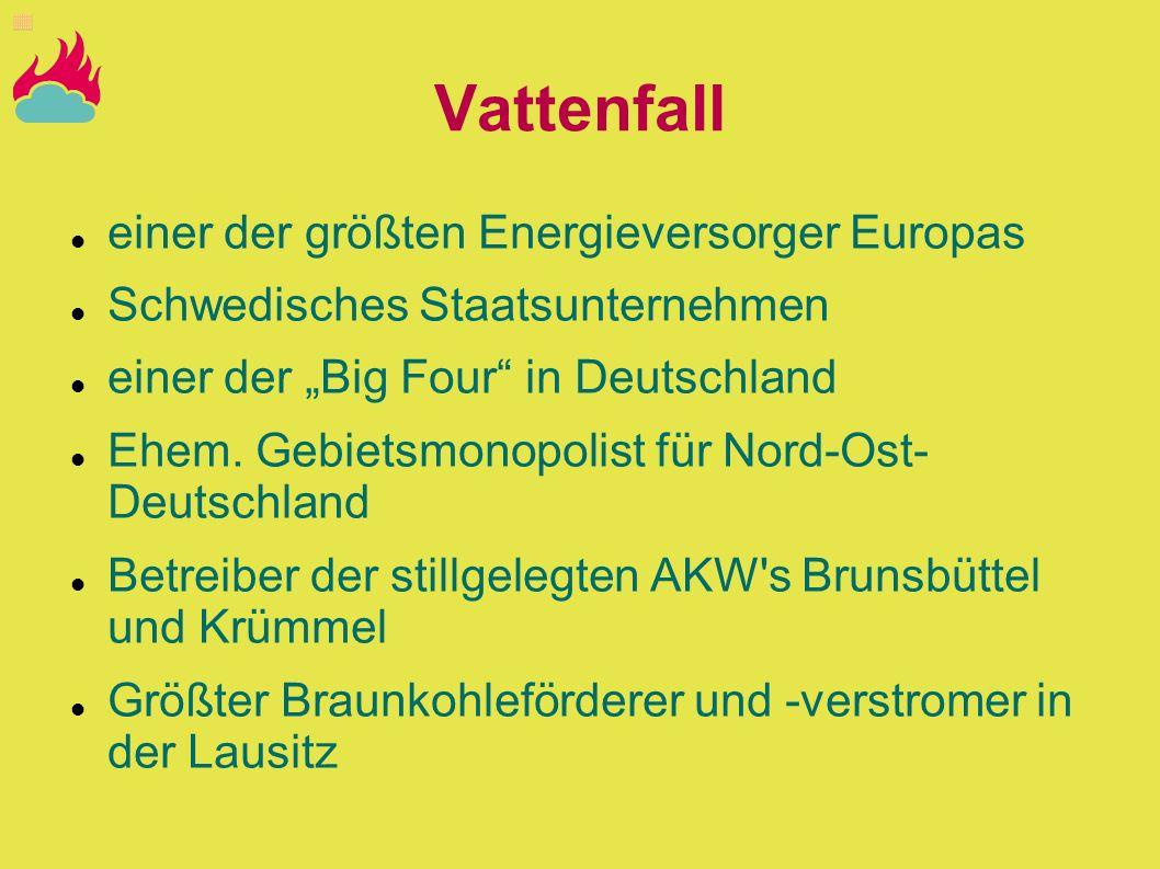 Vattenfall einer der größten Energieversorger Europas