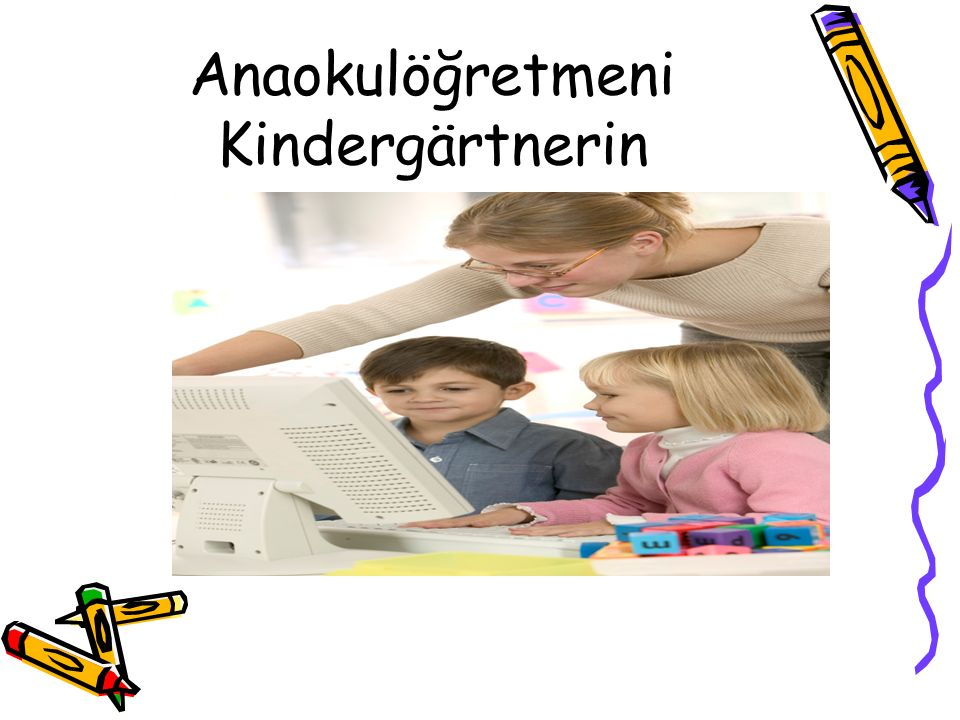 Anaokulöğretmeni Kindergärtnerin