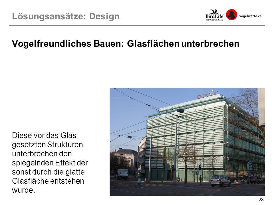 Vogelfreundliches Bauen: Glasflächen unterbrechen