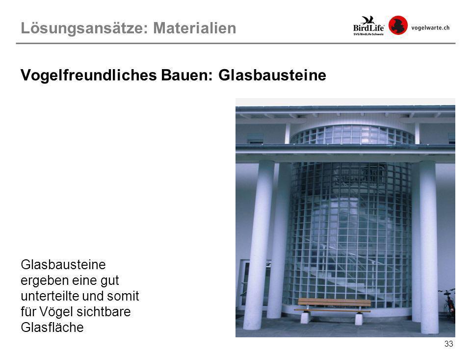 Vogelfreundliches Bauen: Glasbausteine