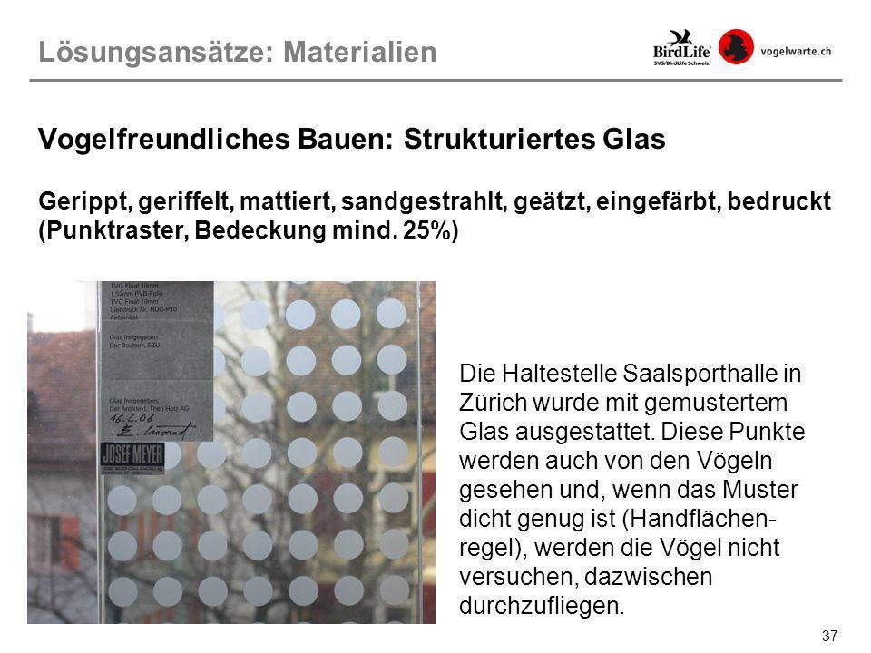 Vogelfreundliches Bauen: Strukturiertes Glas