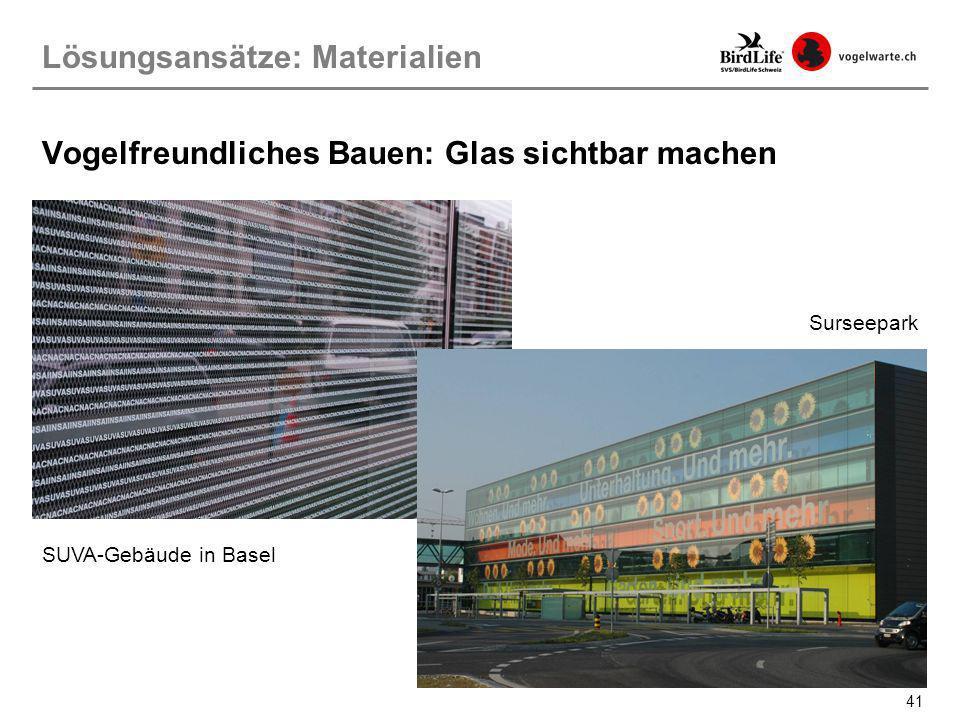Vogelfreundliches Bauen: Glas sichtbar machen